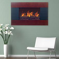 Northwest Mahogany Electric Fireplace with Wall Mount   Remote