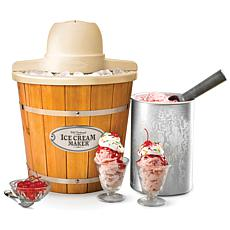 Nostalgia 4-Quart Electric Wood Bucket Ice Cream Maker