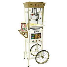 Nostalgia CCPCDYDSP510IVY Candy & Snack Dispensing 8 Oz. Popcorn Cart