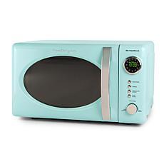 Nostalgia Retro 0.7cu.ft. 700-Watt Countertop Microwave Oven - Aqua
