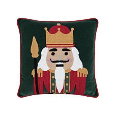 Nutcracker King Chain Stitch Pillow