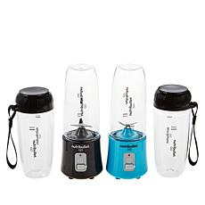 Nutribullet GO Personal Blender 2-pack with Extra Cups and Lids
