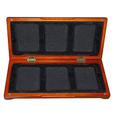 Oak Display Box for Six Slabbed Coins