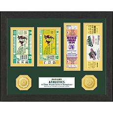 Oakland Athletics 4-Times World Series Ticket Collection