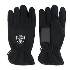 Oakland Raiders NFL Embroidered Fleece Gloves