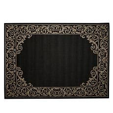 "Oasis 5'1"" x 7' Scroll Border Indoor/Outdoor Reversible Rug"