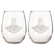 Officially Licensed 15oz Stanley Cup Champions Glass 2-pk - Tampa
