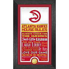 Officially Licensed Atlanta Hawks House Rules Bronze Coin Photo Mint