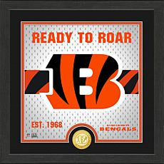 Officially Licensed Battle Cry Bronze Photo Mint - Bengals