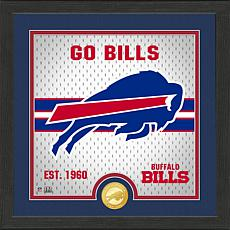 Officially Licensed Battle Cry Bronze Photo Mint - Buffalo Bills