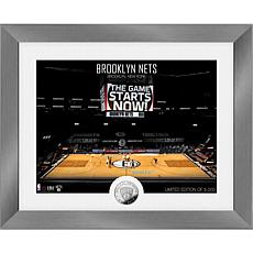 Officially Licensed Brooklyn Nets Art Deco Silver Coin Photo Mint