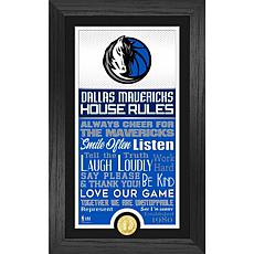 Officially Licensed Dallas Mavericks House Rules Coin Photo Mint