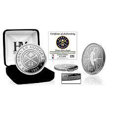 Officially Licensed Denver Nuggets Silver Mint Coin