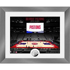 Officially Licensed Detroit Pistons Art Deco Silver Coin Photo Mint