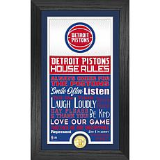 Officially Licensed Detroit Pistons House Rules Bronze Coin Photo Mint