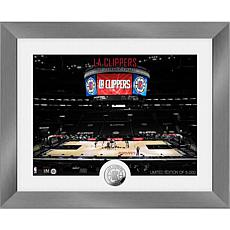 Officially Licensed LA Clippers Art Deco Silver Coin Photo Mint