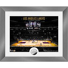 Officially Licensed Los Angeles Lakers Art Deco Silver Coin Photo Mint