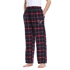Officially Licensed Men's Plaid Flannel Pant by Concept Sports- Texans
