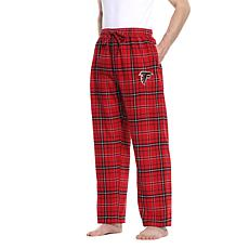 Officially Licensed Men's Plaid Flannel Pant by Concept Sports-Falcons