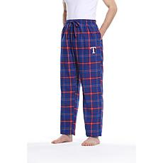 Officially Licensed Men's Plaid Flannel Pant by Concepts Sport-Rangers