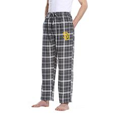 Officially Licensed Men's Plaid Flannel Pant by Concepts Sport-Padres
