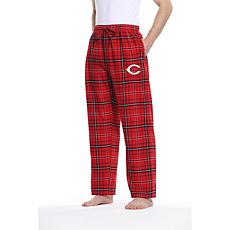 Officially Licensed Men's Plaid Flannel Pant by Concepts Sport-Reds