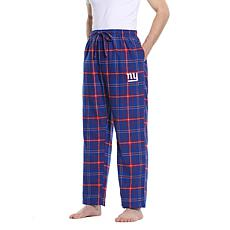 Officially Licensed Men's Plaid Flannel Pant, Concept Sports-NY Giants