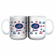 "Officially Licensed MLB ""#1 Dad"" 15 oz. White Mug - Braves"