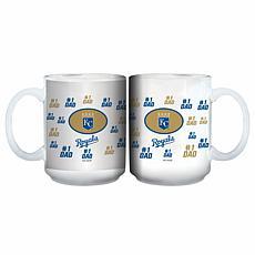 "Officially Licensed MLB ""#1 Dad"" 15 oz. White Mug - Royals"