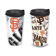 Officially Licensed MLB 16 oz. Tumbler Set - San Francisco Giants