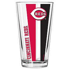 Officially Licensed MLB 16 oz. Vertical Decal Pint Glass - Reds