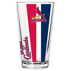 Officially Licensed MLB 16 oz. Vertical Decal Pint Glass - Cardinals