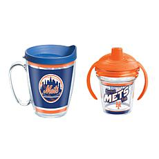 Officially Licensed MLB 16oz. Coffee Mug and 6oz. Sippy Cup - NY Mets