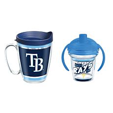 Officially Licensed MLB 16oz. Coffee Mug and 6oz. Sippy Cup - Rays