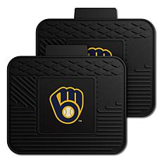 Officially Licensed MLB 2-Piece Utility Mat Set - Milwaukee Brewers
