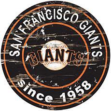 "Officially Licensed MLB 24"" Established Date Sign - Giants"