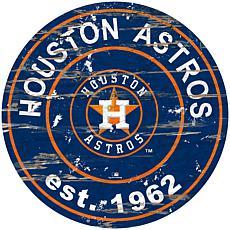 "Officially Licensed MLB 24"" Established Date Sign - Houston Astros"