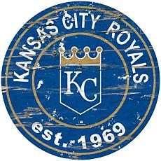"""Officially Licensed MLB 24"""" Established Date Sign - KC Royals"""