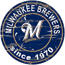 "Officially Licensed MLB 24"" Established Date Sign - Milwaukee Brewers"