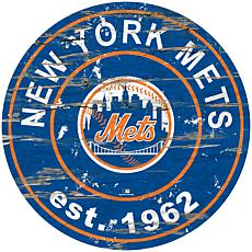 "Officially Licensed MLB 24"" Established Date Sign - New York Mets"