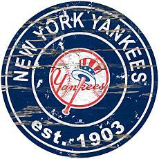 "Officially Licensed MLB 24"" Established Date Sign - New York Yankees"