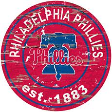 "Officially Licensed MLB 24"" Established Date Sign - Phillies"