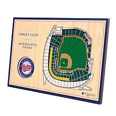 Officially-Licensed MLB 3-D StadiumViews Display - Minnesota Twins