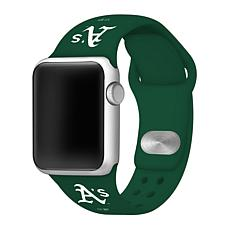 Officially Licensed MLB 38mm/40mm Silicone Apple Watchband - Athletics