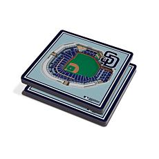 Officially Licensed MLB 3D StadiumViews Coaster Set - San Diego Padres