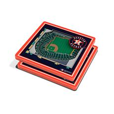 Officially Licensed MLB 3D StadiumViews Coasters - Houston Astros