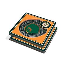 Officially Licensed MLB 3D StadiumViews Coasters - Oakland Athletics