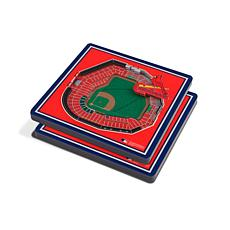 Officially Licensed MLB 3D StadiumViews Coasters - St. Louis Cardinals
