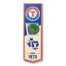 """Officially Licensed MLB 6"""" x 19"""" 3-D Stadium Banner - Texas Rangers"""