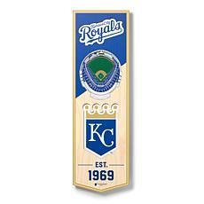"Officially Licensed MLB 6"" x 19"" 3D Stadium Banner- Kansas City Royals"